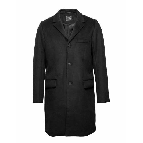 Abercrombie & Fitch Wool Topcoat Wollmantel Mantel Schwarz ABERCROMBIE & FITCH Schwarz S,M,L,XS