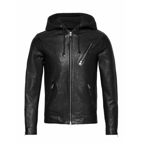 AllSaints Harwood Jacket Lederjacke Schwarz ALLSAINTS Schwarz XL,M,S