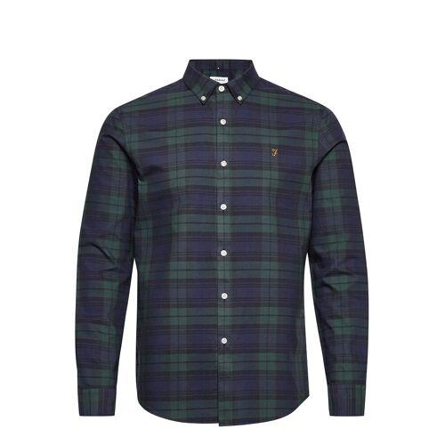Farah Brewer Check Long Sleeve Slim Fit Shirt Hemd Casual Grün FARAH Grün L,M,S,XL,XS