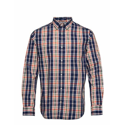 Gant D1. Tp Indigo Plaid Reg Bd Hemd Casual Blau GANT Blau S