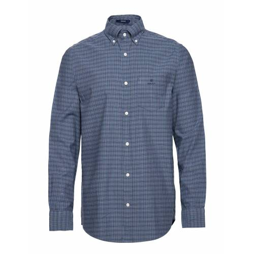 Gant D1. Herringb Tattersall Reg Bd Hemd Casual Blau GANT Blau