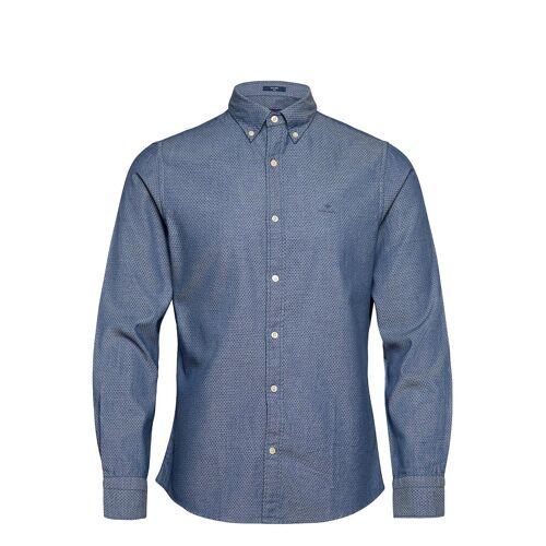 Gant D2. Tp Indigo Dobby Slim Bd Hemd Casual Blau GANT Blau L,XL,M,XXL,S