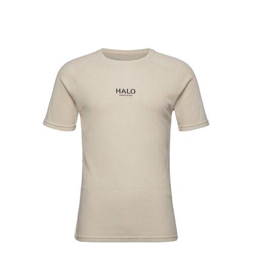 Halo Waffle Tee T-Shirt Beige HALO Beige L,M,S,XXL,XL