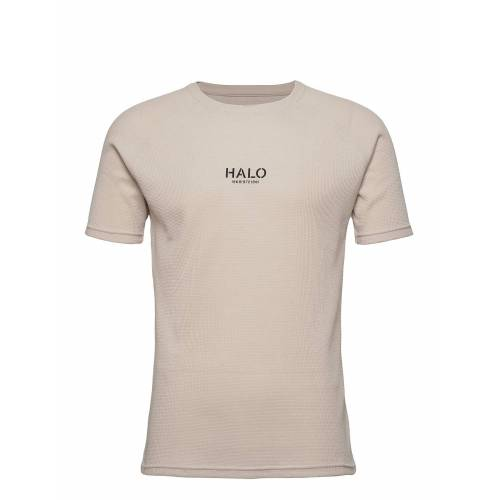 Halo Waffle Tee T-Shirt Beige HALO Beige S,M,L,XL,XXL,XS
