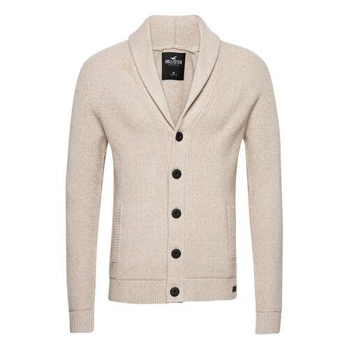 Hollister Hco. Guys Sweaters Cardigan Strickpullover Beige HOLLISTER Beige S,XXL,L,M,XS,XL