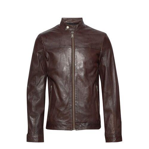 lindbergh Leather Jacket Lederjacke Braun LINDBERGH Braun S,XL