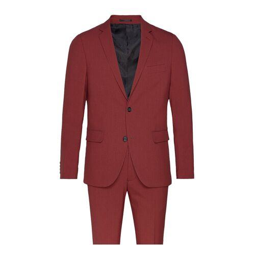 lindbergh Plain Mens Suit Anzug Rot LINDBERGH Rot 56,54,48,58,50,52,60