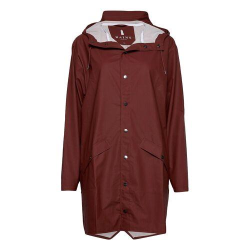Rains Long Jacket Regenkleidung Rot RAINS Rot S-M
