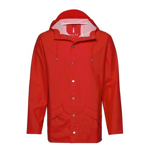 Rains Long Jacket Regenkleidung Rot RAINS Rot M/L,S/M,XS/S,L/XL