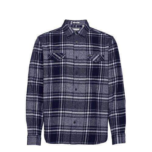 Wrangler Ls 2pkt Flap Shirt Hemd Casual Blau WRANGLER Blau XL,XXL