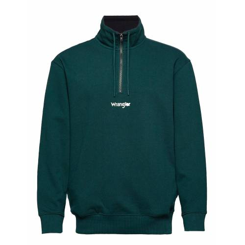 Wrangler Half Zip Sweat Sweat-shirt Pullover Grün WRANGLER Grün XL,S