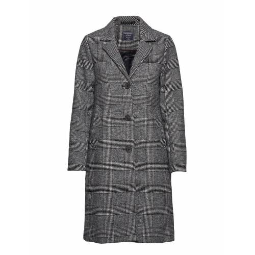 Abercrombie & Fitch Dad Coat Wool Wollmantel Mantel Grau ABERCROMBIE & FITCH Grau XS