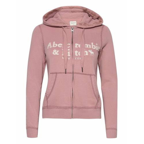 Abercrombie & Fitch Long Life Full Zip Hoodie Pullover Pink ABERCROMBIE & FITCH Pink L,M,S,XS