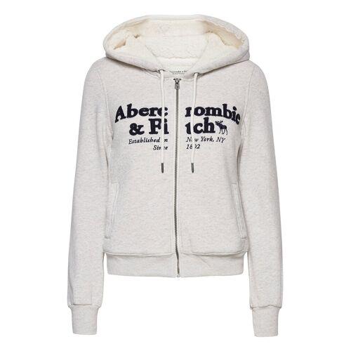 Abercrombie & Fitch Anf Womens Sweatshirts Hoodie Pullover Grau ABERCROMBIE & FITCH Grau S,M,XS,L,XL