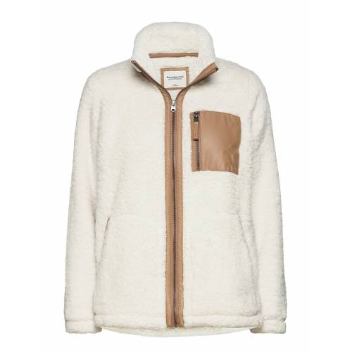 Abercrombie & Fitch Anf Womens Sweatshirts Sweat-shirt Pullover Weiß ABERCROMBIE & FITCH Weiß XS,S,M