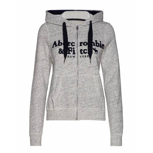 Abercrombie & Fitch Long Life Full Zip Hoodie Pullover Grau ABERCROMBIE & FITCH Grau S,XL,XS,M,L