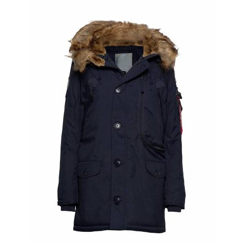 alpha industries Polar Jacket Wmn Parka Jacke Mantel Blau ALPHA INDUSTRIES Blau