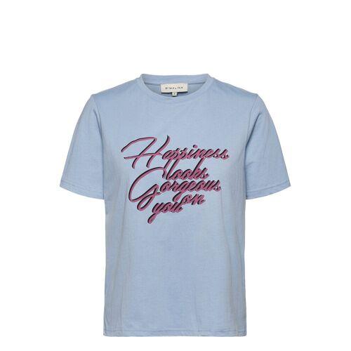 By Malina Happiness Tee T-Shirt Top Blau BY MALINA Blau M,L,S,XS,XL