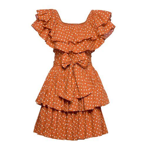 BY TI MO Bohemian Singoalla Dress Kleid Knielang Orange BY TI MO Orange L,XL