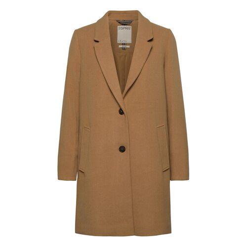 ESPRIT CASUAL Coats Woven Wollmantel Mantel Braun ESPRIT CASUAL Braun M,L,S,XL,XXL,XS