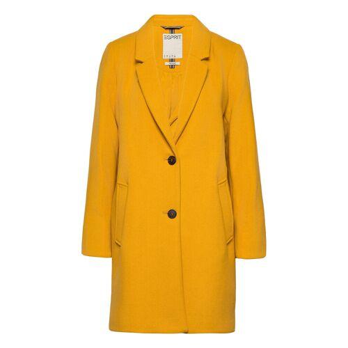 ESPRIT CASUAL Coats Woven Wollmantel Mantel Gelb ESPRIT CASUAL Gelb L,XXL,S,M