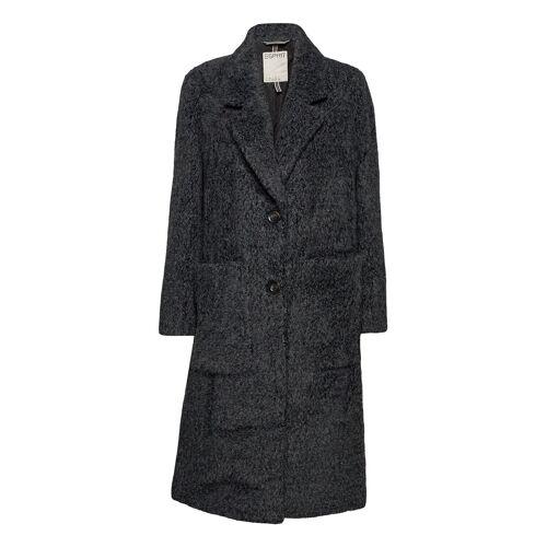 ESPRIT CASUAL Coats Woven Wollmantel Mantel Grau ESPRIT CASUAL Grau M,S,L,XS,XL,XXL