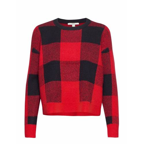 EDC BY ESPRIT Sweaters Sweat-shirt Pullover Rot EDC BY ESPRIT Rot M,L,S