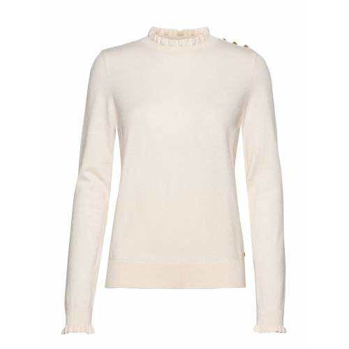 Fabienne Chapot Molly Frill Pullover Strickpullover Creme FABIENNE CHAPOT Creme S,M,XS,L,XL