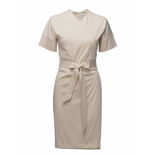 FILIPPA K Belted Wrap Dress Kurzes Kleid Creme FILIPPA K Creme XL