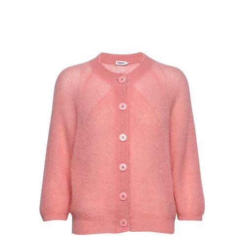 FILIPPA K Mohair 3/4 Sleeve Cardigan Cardigan Strickpullover Pink FILIPPA K Pink XL