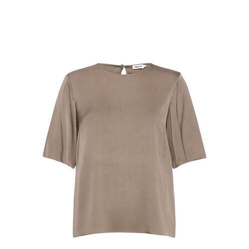 FILIPPA K Silk Tee T-Shirt Top Grau FILIPPA K Grau 36,42