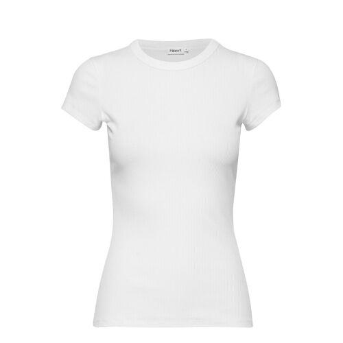 FILIPPA K Fine Rib Tee T-Shirt Top Weiß FILIPPA K Weiß S,M,L,XS,XL