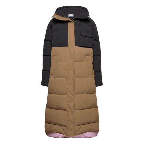 Ganni Heavy Tech Gefütterter Mantel Beige GANNI Beige S/M,XXS/XS,L/XL