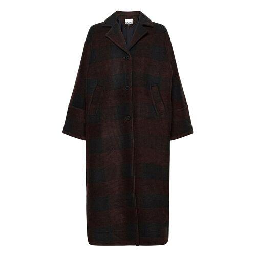 Ganni Double Wool Wollmantel Mantel Schwarz GANNI Schwarz XXS/XS,S/M