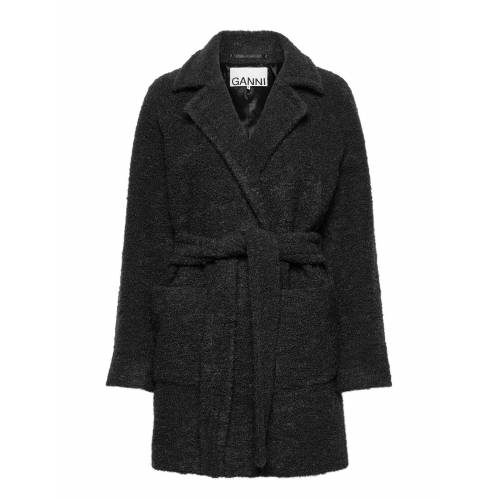 Ganni Boucle Wool Wollmantel Mantel Grau GANNI Grau 34,42,36,38