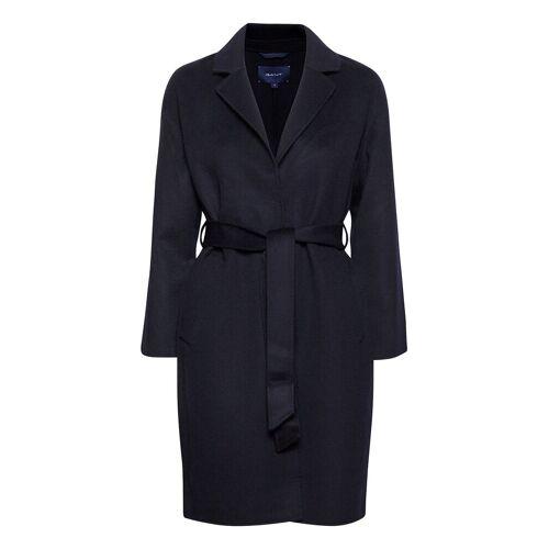 Gant D1. Wool Blend Belted Coat Wollmantel Mantel Blau GANT Blau L,XL