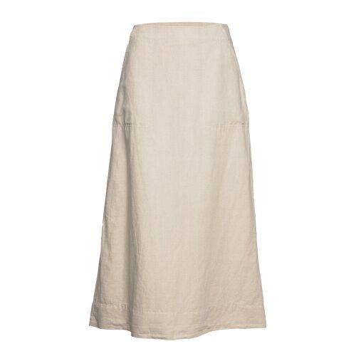 GAP Linen Flare Maxi Skirt Langes Kleid Creme GAP Creme 46