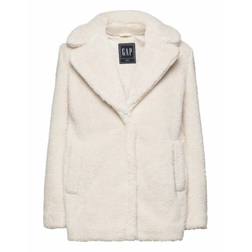 GAP Sherpa Teddy Jacket Outerwear Faux Fur Weiß GAP Weiß M,S,L,XL,XXL