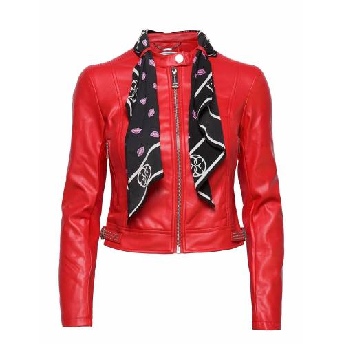 GUESS JEANS New J Jacket Lederjacke Rot GUESS JEANS Rot S,M,L,XS