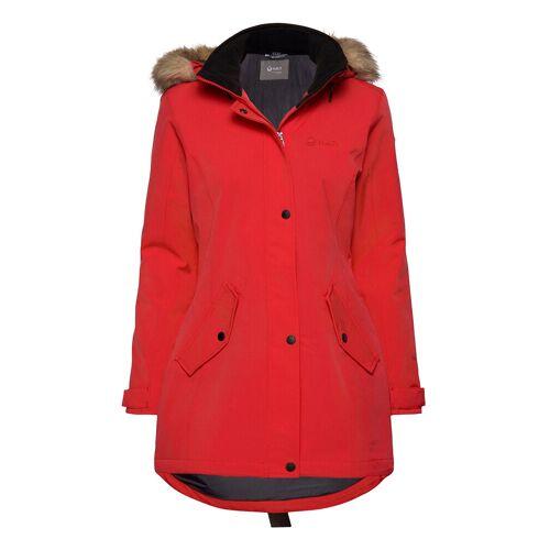 HALTI Luosto Women'S Parka Jacket Parka Jacke Mantel Rot HALTI Rot 42