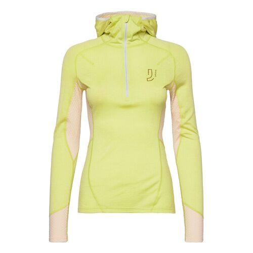 JOHAUG Lithe Tech-Wool Hood Base Layer Tops Gelb JOHAUG Gelb M,S,L,XL,XS