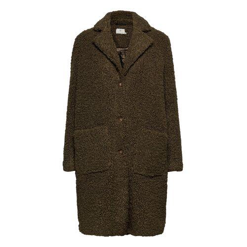 Kaffe Balma Teddy Coat- Min 4 Pcs Outerwear Faux Fur Grün KAFFE Grün 42,40,44