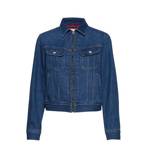 Lee Jeans Zip Cropped Rider Jeansjacke Denimjacke Blau LEE JEANS Blau M,S,XS