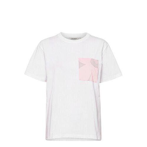 Marimekko Hiekka Solid T-Shirt T-Shirt Top Weiß MARIMEKKO Weiß L,XL,XXL