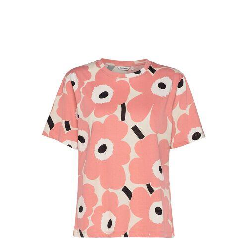 Marimekko Kautta Unikko T-Shirt T-Shirt Top Pink MARIMEKKO Pink M,L,S,XL,XXL,XS