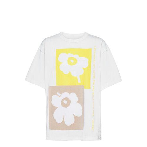 Marimekko Ohje Unikko T-Shirt T-Shirt Top Weiß MARIMEKKO Weiß M,S,L,XS,XL