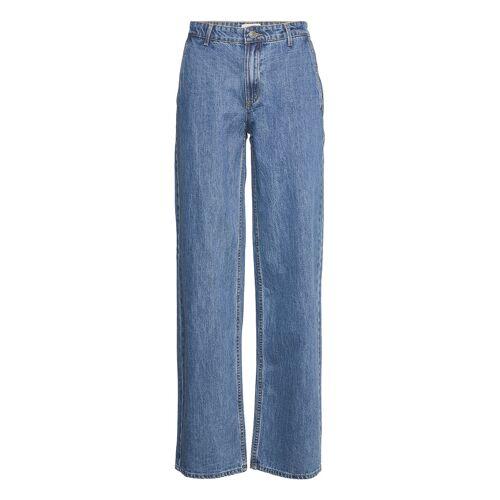 MODSTRÖM Harriet Medium Blue Jeans Straight Jeans Hose Mit Geradem Bein Blau MODSTRÖM Blau 27,28,26,25,31