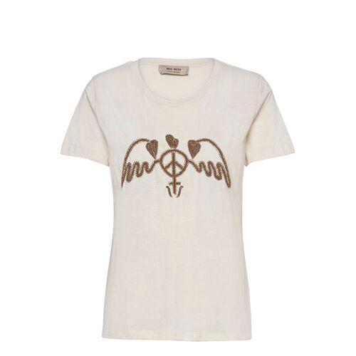 MOS MOSH Royal O-Ss Tee T-Shirt Top Creme MOS MOSH Creme M,L,S,XL,XS