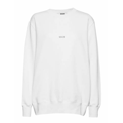MSGM Sweatshirt Sweat-shirt Pullover Weiß MSGM Weiß S