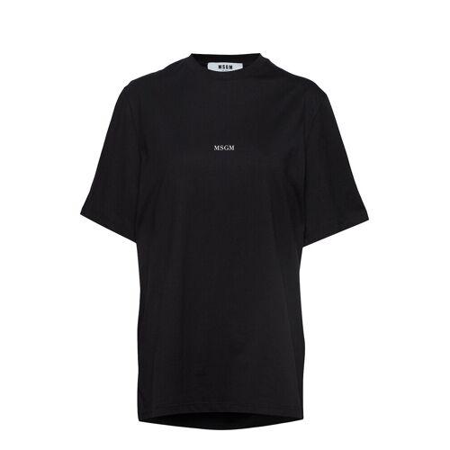 MSGM T-Shirt T-Shirt Top Schwarz MSGM Schwarz